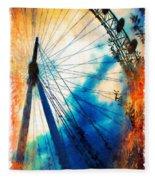 A Big Wheel Roller Coaster Ride Under A Sunset Fleece Blanket