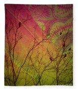 A Bird's Dream Of Summer Fleece Blanket