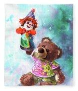 A Birthday Clown For Miki De Goodaboom Fleece Blanket