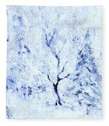 A Blanket Of Snow Fleece Blanket