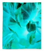 A Bloom In Turquoise Fleece Blanket