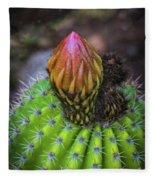 A Blooming Cactus Fleece Blanket