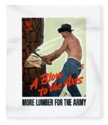 A Blow To The Axis - Ww2 Fleece Blanket
