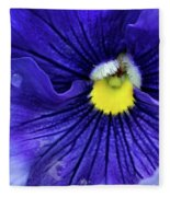 A Blue Pansy Fleece Blanket