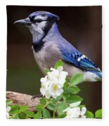 A Bluejay Bouquet Fleece Blanket