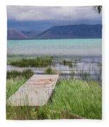 A Boardwalk To Bear Lake Fleece Blanket