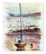 A Boat On Anglesey 01 Fleece Blanket