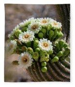 A Bouquet Of Saguaro Blossoms Fleece Blanket