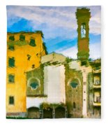 A Breeze Over Florence Fleece Blanket
