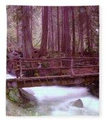 A Bridge To Paradise Fleece Blanket