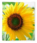 A Bright Yellow Sunflower Fleece Blanket