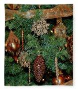 A Bronze Christmas Fleece Blanket