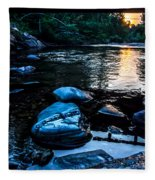 A Browns River Sunset Fleece Blanket