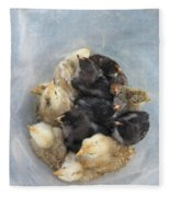 A Bucket Of Chicks Fleece Blanket