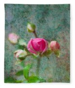 A Bud - A Rose Fleece Blanket