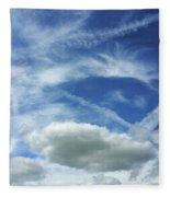 A Busy Sky Fleece Blanket