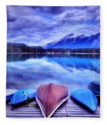 A Calm Afternoon At Lake Edith Fleece Blanket