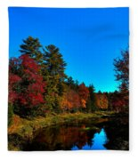 A Calm Fall Day On The Upper Moose Fleece Blanket