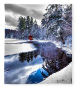 A Calm Winter Scene Fleece Blanket