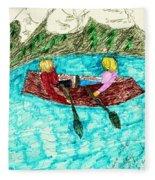 A Canoe Ride Fleece Blanket
