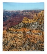 A Canyon Winter Fleece Blanket