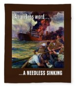 A Careless Word A Needless Sinking Fleece Blanket