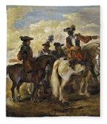 A Cavalry Skirmish Fleece Blanket