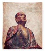 Buddha 5 Fleece Blanket