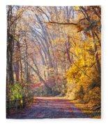 A Change Of Seasons On Forbidden Drive Fleece Blanket