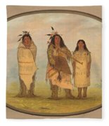 A Cheyenne Chief His Wife And A Medicine Man Fleece Blanket