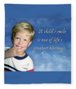 A Child's Smile Fleece Blanket