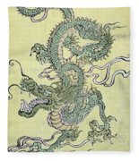 A Chinese Dragon Fleece Blanket