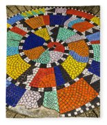 A Chip Off The Ole Mosaic Fleece Blanket