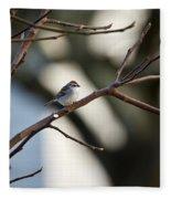 A Chipping Sparrow Fleece Blanket