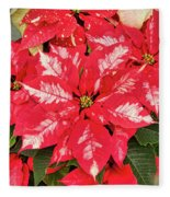 A Christmas Flower Fleece Blanket