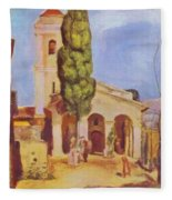 A Church At Cagnes Fleece Blanket
