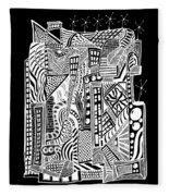 A City 2...   -  Une Ville 2... Fleece Blanket