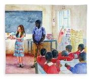 A Classroom In Africa Fleece Blanket