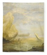 A Coastal Landscape Fleece Blanket