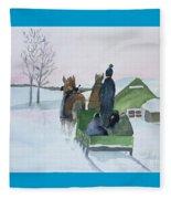A Cold Ride Fleece Blanket