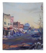 A Cold Sunny Day At Webster St Fleece Blanket