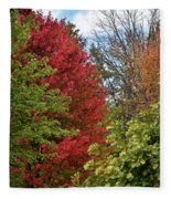 A Collection Of Fall Colours Fleece Blanket