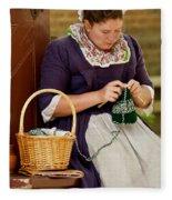A Colonial Lady Knits Fleece Blanket