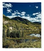 A Colorado Autumn Fleece Blanket