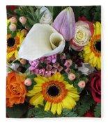 A Colorful Bouquet Fleece Blanket