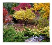 A Colorful Fall Corner Fleece Blanket