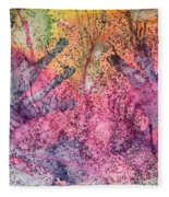 A Colorful Lecture On Glitter Fleece Blanket