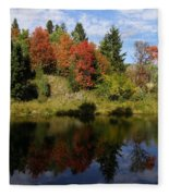 A Colorful Reflection Fleece Blanket