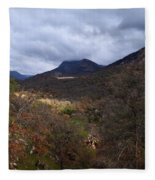 A Colorful Scene Of Burned And Lush Interspersed Foliage In The Southwest Foothills Of The Sierra Ne Fleece Blanket