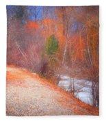 A Colourful Winter Fleece Blanket